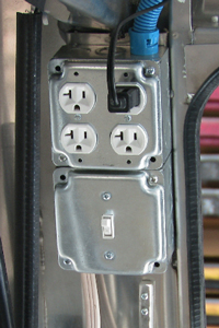 Somersong Forge Trailers:  Electrical Sockets for Power Tools -Power access 24/7