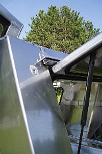 Somersong Forge Trailers:  Unique Trailer Trim -folded door edges -rear rain release feature