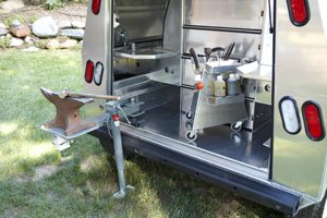 Somersong Forge Trailers:  Room for Accessories -Tower tool box -Anvil arm and leg jack shown with rear tool traps